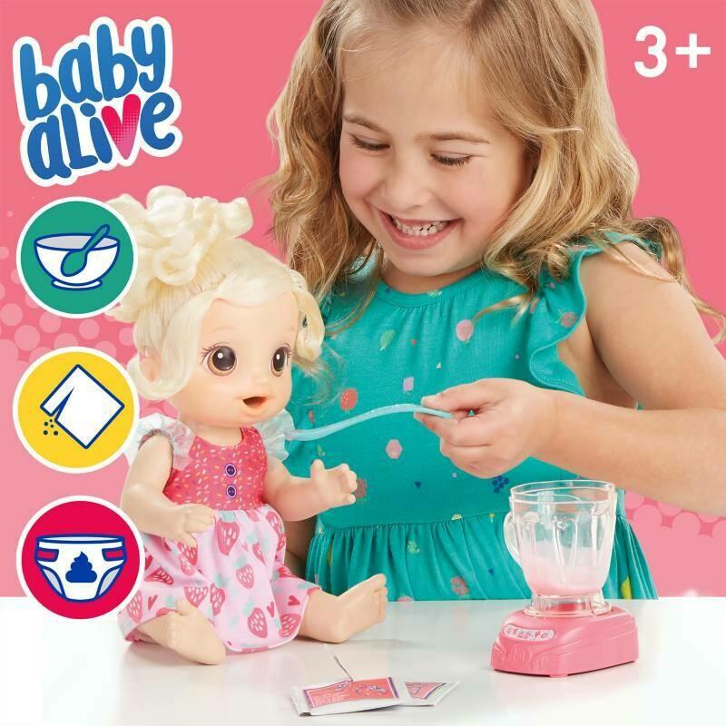 Hasbro - Baby Alive Bebe Batidos Magicos Fresa