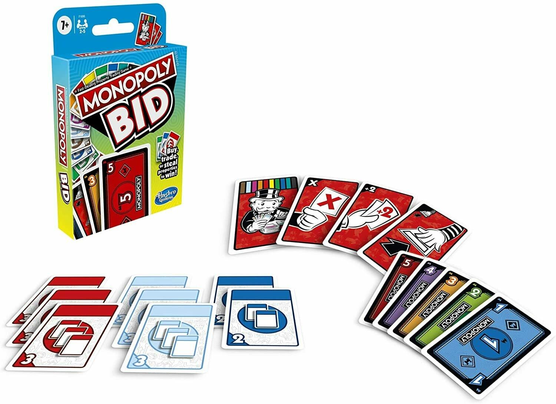 Hasbro - Monopoly Bid Juego De Cartas