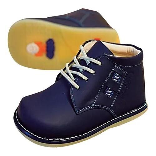 Zapato de Cuero Azul Semi Ortopedico