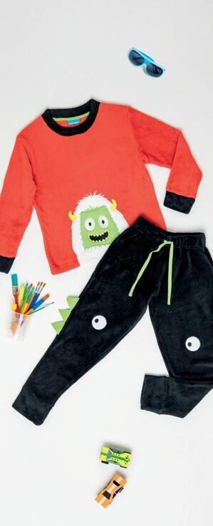 Pijama Monster de Coral Fleece