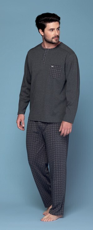 Pijama Gris de Algodon