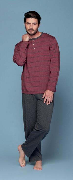 Pijama Burdeo de Algodon