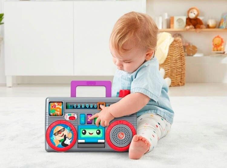 Fisher Price - Rie Y Aprende Radio Portatil Baila Y Aprende