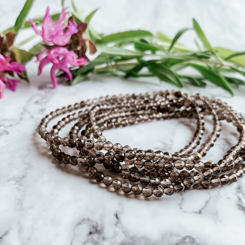 Smoky Quartz Healing Crystal Bracelet