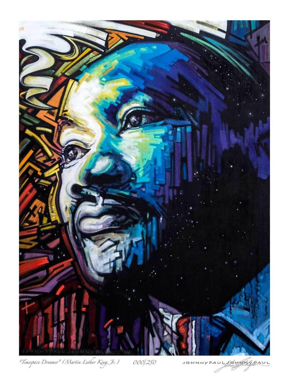 """""""Timespace Dreamer"""" (M. L. King, Jr.)"""