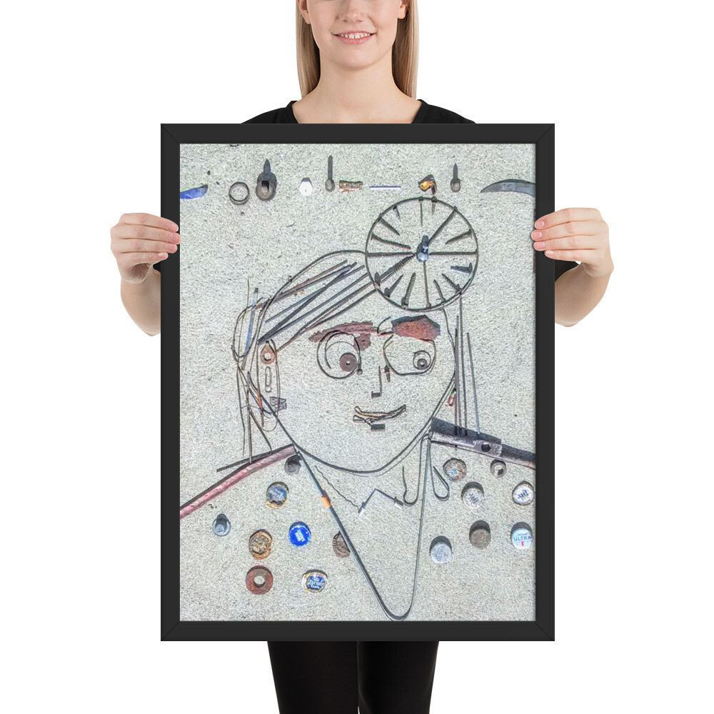 Working Girl Framed poster