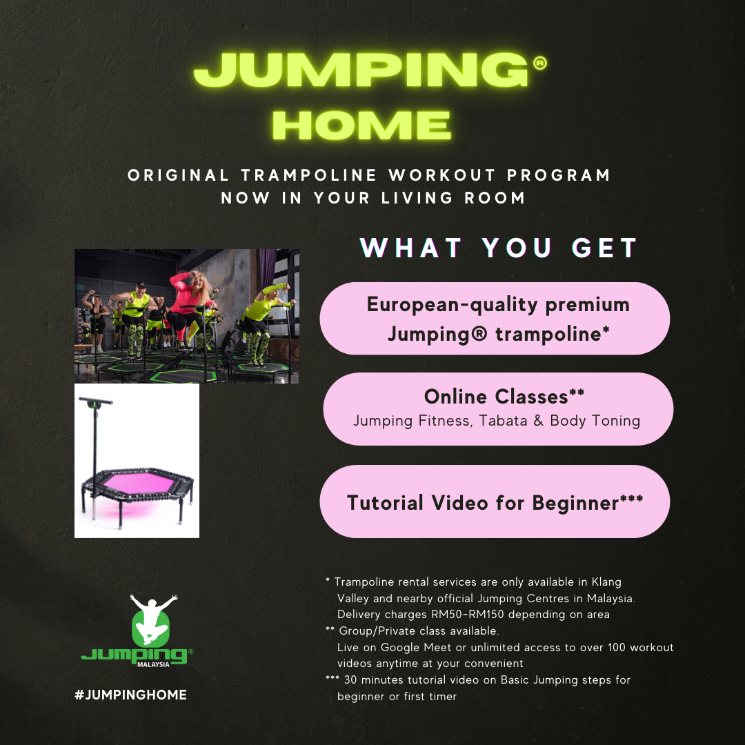 Jumping Home - 1 Month Trampoline Rent and Online Classes