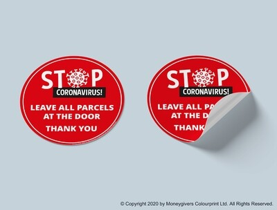 Leave Parcels at the Door Sticker
