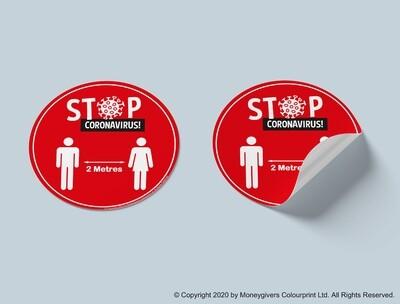 Maintain Distance Sticker