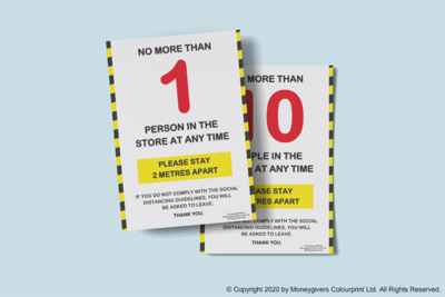 Store Customer Limit Poster