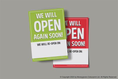 Re-Opening Soon Poster