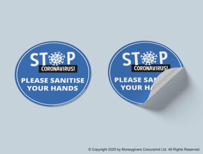 Sanitise Hands Sticker