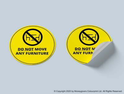 Do Not Move Any Furniture Sticker