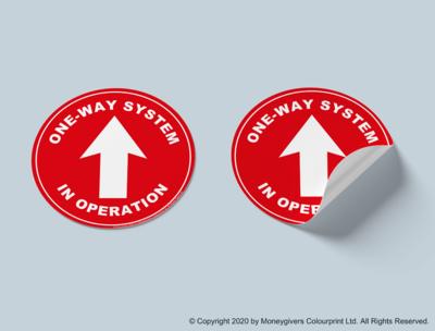 One Way System Sticker