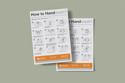 WHO Hand Washing Poster