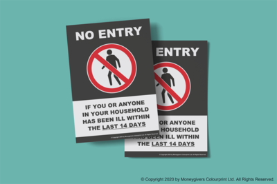 No Entry If You Have Been Ill Poster