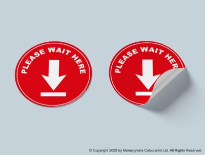 Please Wait Here Sticker