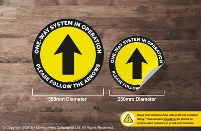 One-Way System (Floor Sticker)