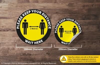 Keep Your Distance (Floor Sticker)