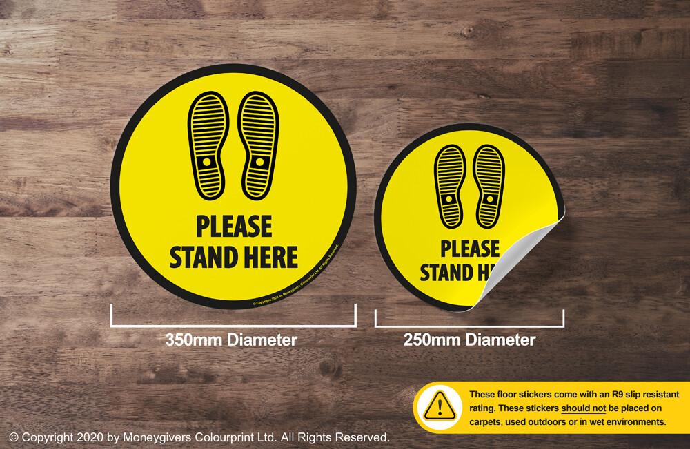 Please Stand Here (Floor Sticker)