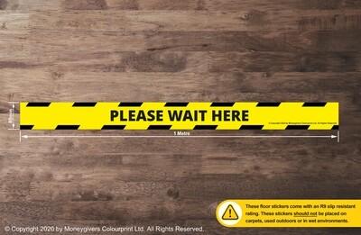 Please Wait Here (Floor Sticker)