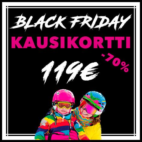 Black Friday KAUSIKORTTI 119€ (Norm.389€)