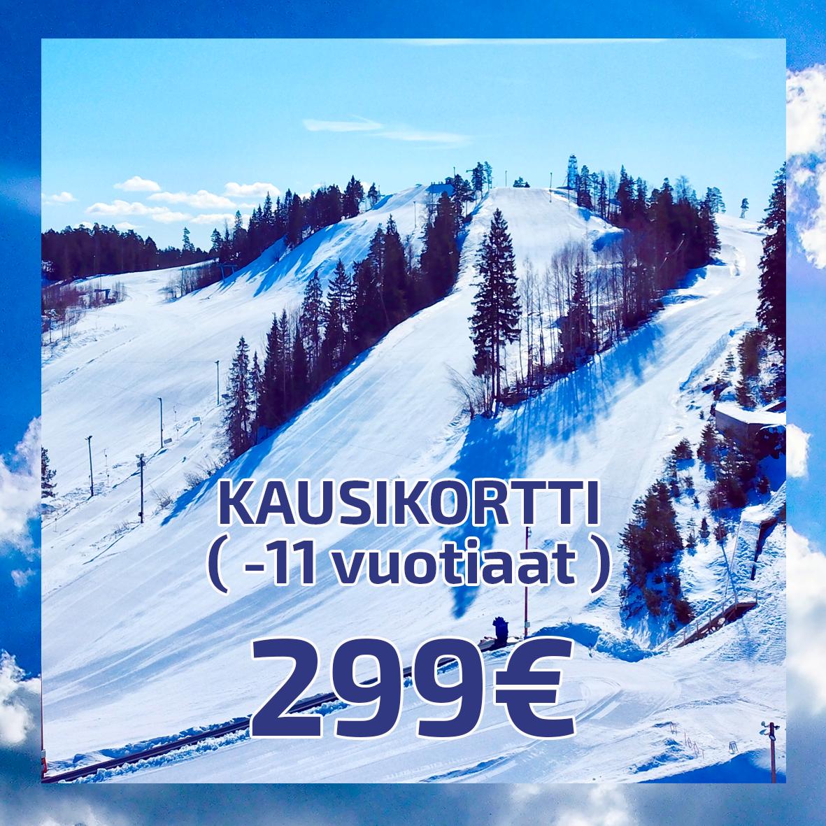 Kausikortti (-11 vuotiaat ) 299€