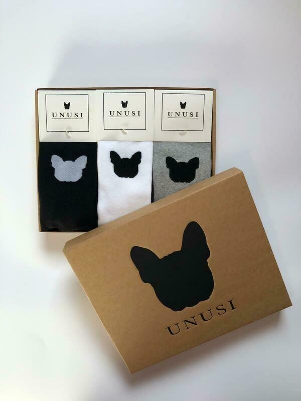 UNUSI 3 Pair Socks SET+Gift Box