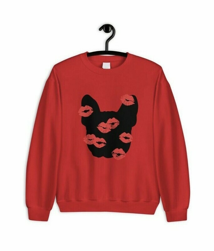 UNUSI Red Sweatshirt With Red KISS Design