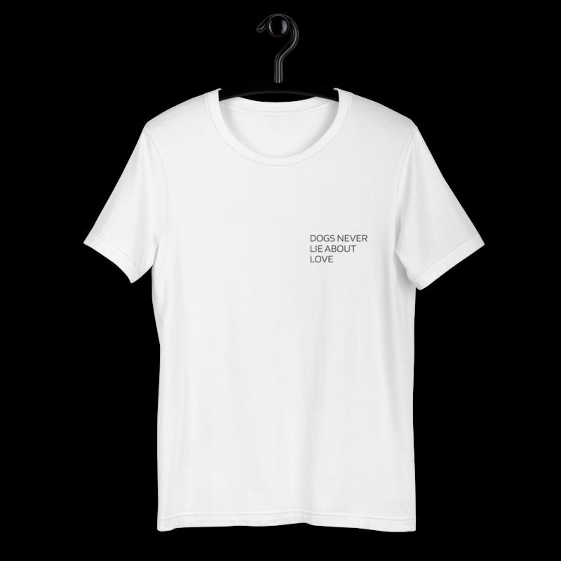 UNUSI White T-shirt With Black Design JEFFRY
