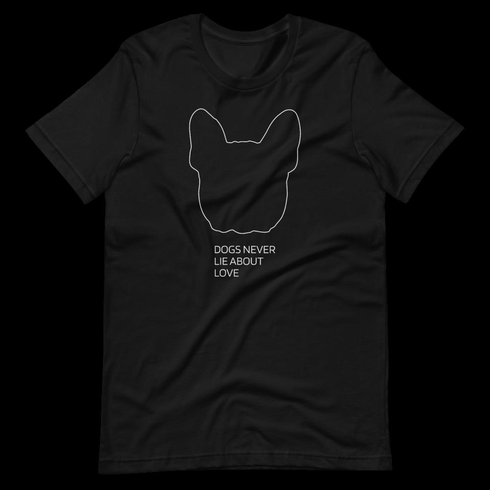 UNUSI Black T-shirt With White Design COCO