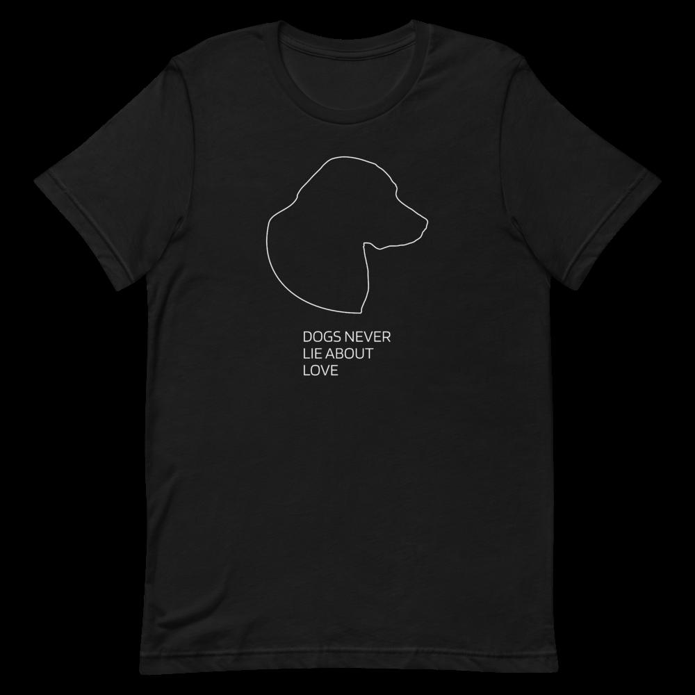 UNUSI Black T-shirt With White Design BELLA