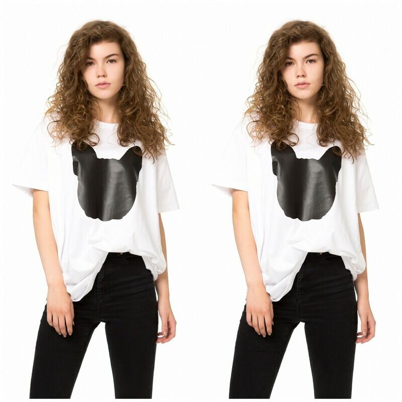 UNUSI T-shirt Twinset With Black Logo