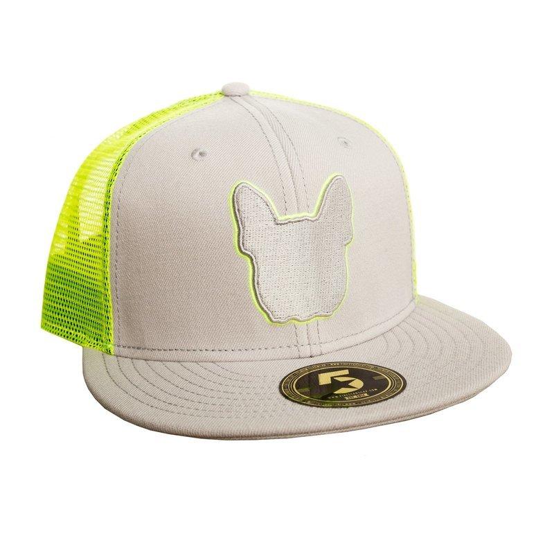 UNUSI Grey/Lemon Snapback With White logo