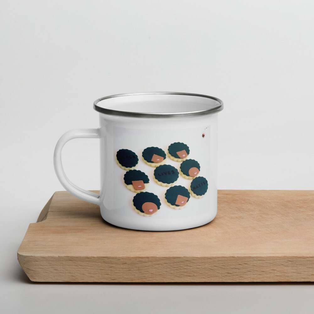 Black Out Cookie Enamel Mug