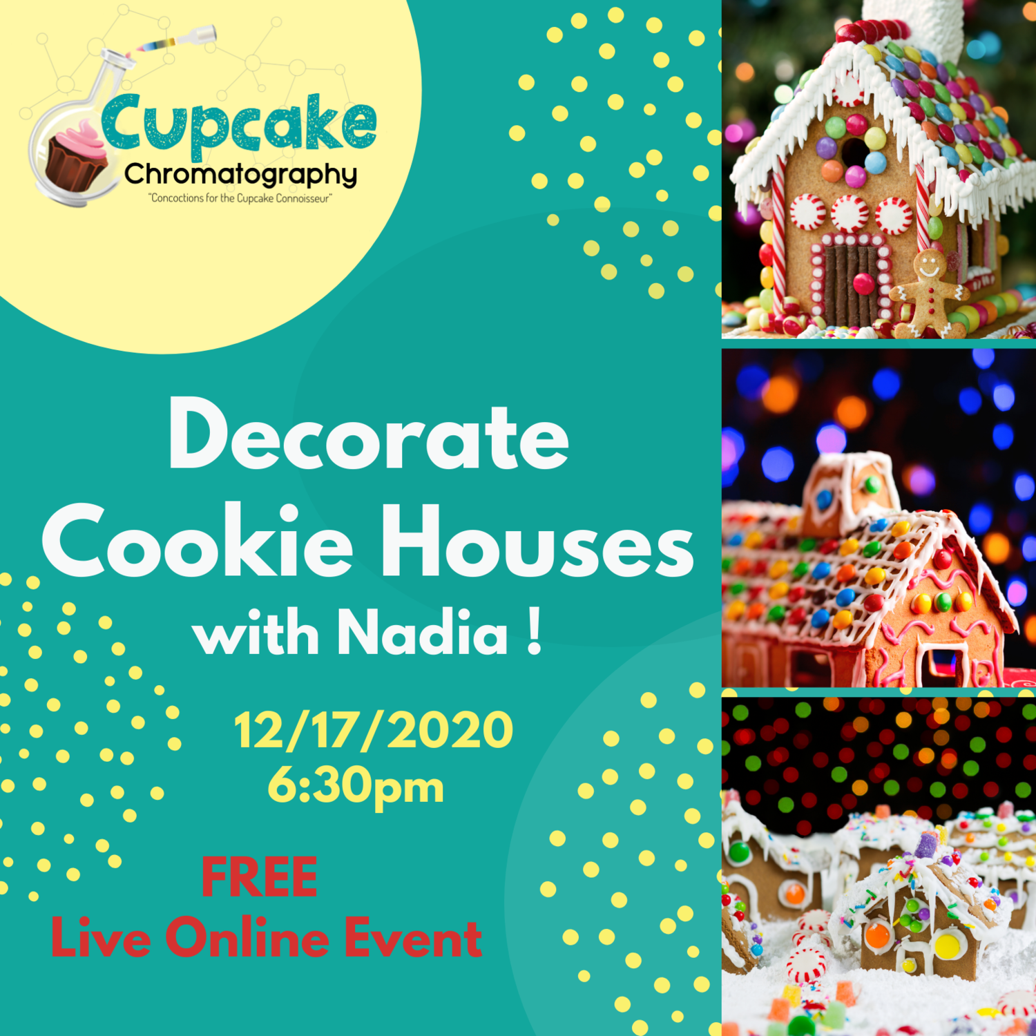 Decorate Cookie Houses with Nadia! 12/17/2020