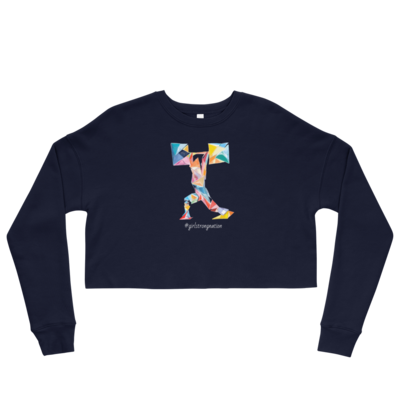 STRENGTH! Crop Navy