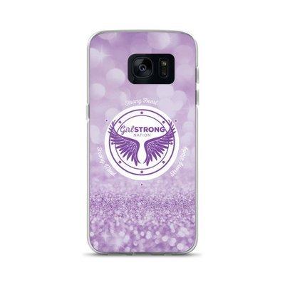 Girl Strong Samsung Phone Case Purple