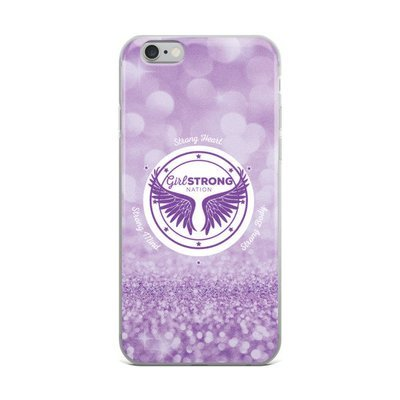 Girl Strong iPhone Case Purple