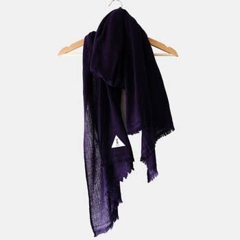 Cashmere Scarf - Navy Blue