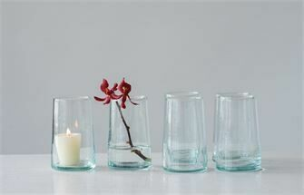 Hand Blown Casual Wine Glass - Set of 4