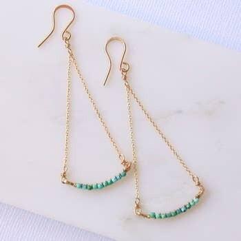 Turquoise Swing Earrings