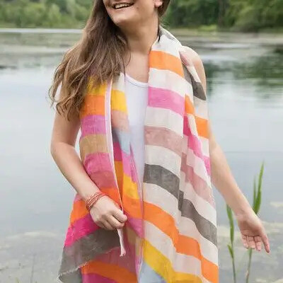 Handloomed Striped Scarf