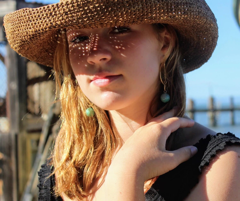 Hand Crocheted Straw Hat