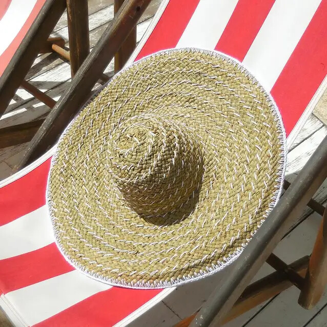 Wide Brim Straw Hat by Brunna