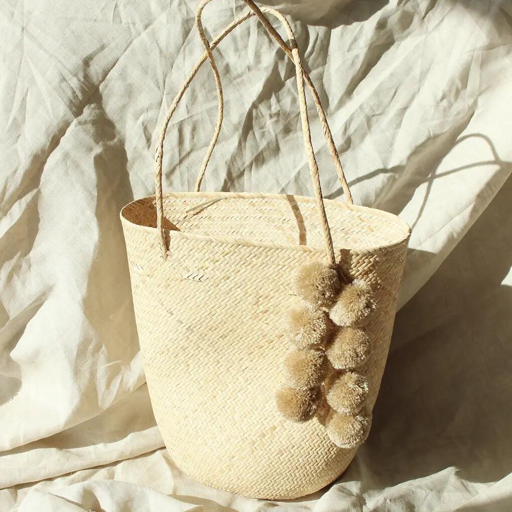 Serena Pom-Pom Tote Bag