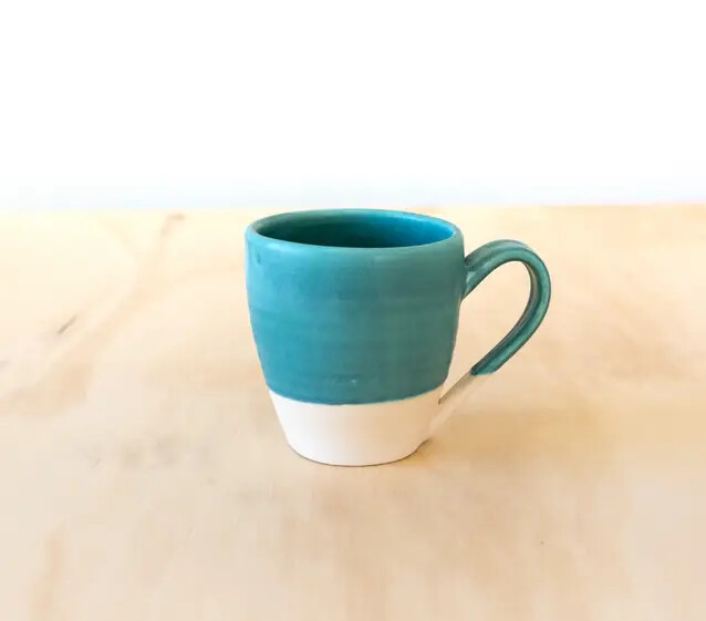 Ocean Colored Dipped Mug