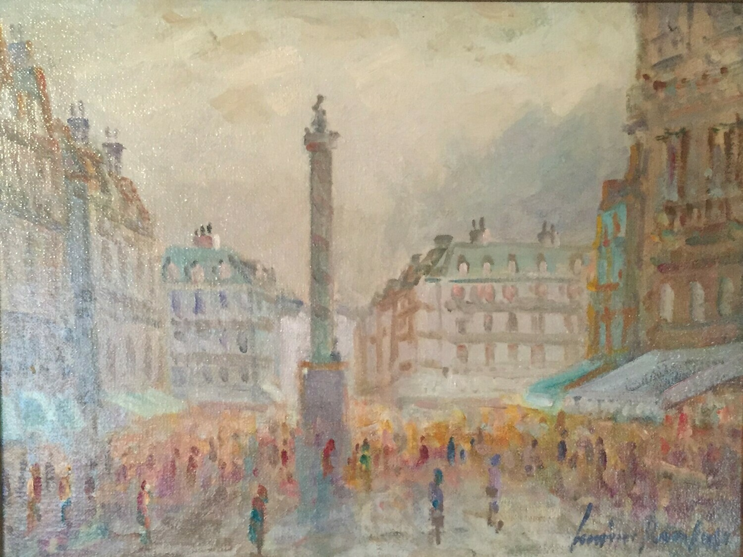 Street Scene in Paris/Place Vendome