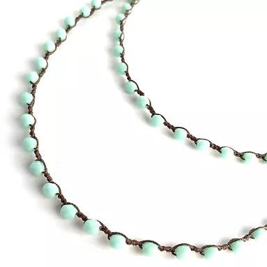 Mint Long Crystal Necklace or Bracelet