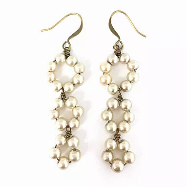 Triple Drop Pearl Earring